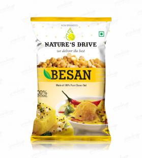 nature's drive besan,besan design,packing design,mockup,pouch design,packaging design,besan